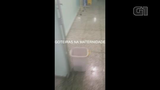 Imagens mostram goteiras em sala de cirurgia de maternidade pública
