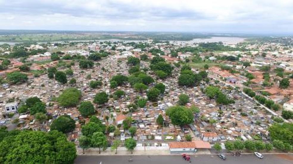 Cemitérios da cidade estão lotados — Foto: Divulgação/Prefeitura de Araguaína