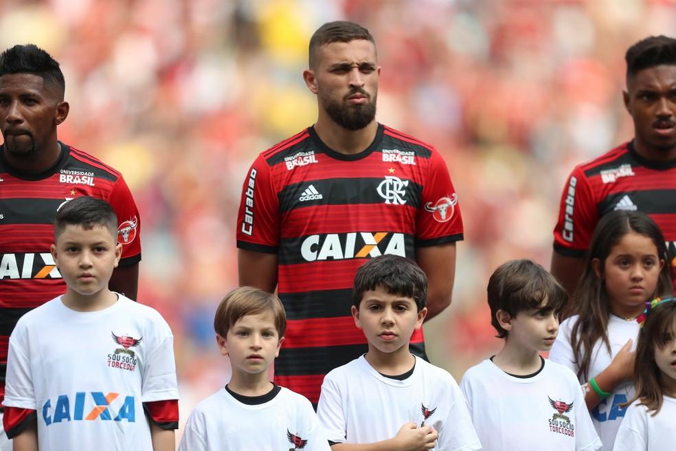 Léo Duarte em Flamengo x Santos — Foto: Gilvan de Souza/Flamengo