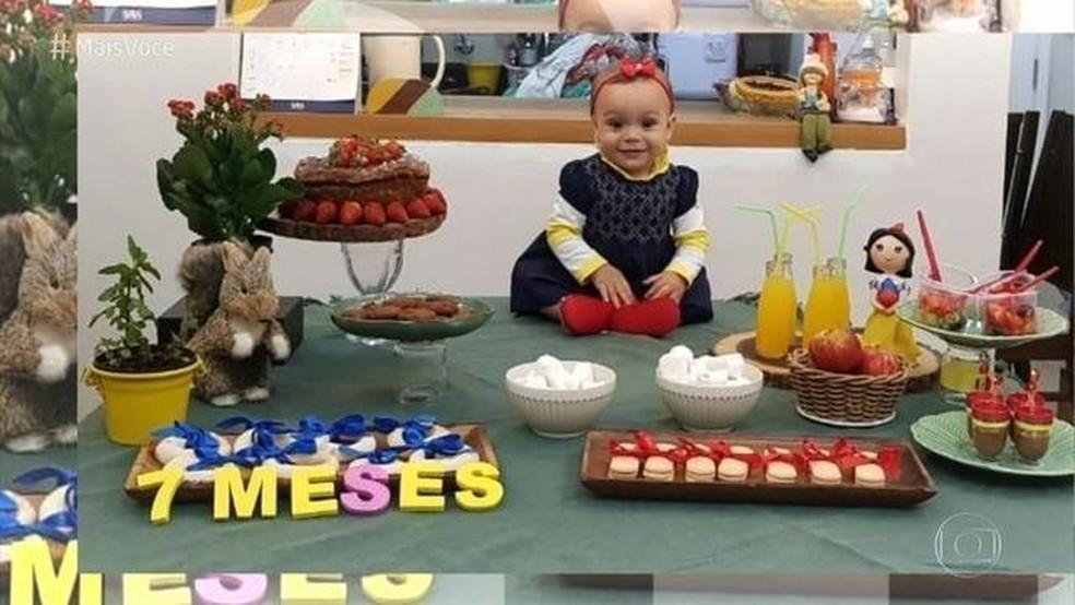 Saiba como montar a festa de mesversário do seu filho — Foto: TV Globo