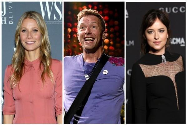 Gwyneth Paltrow, Chris Martin e Dakota Johnson (Foto: Getty Images)