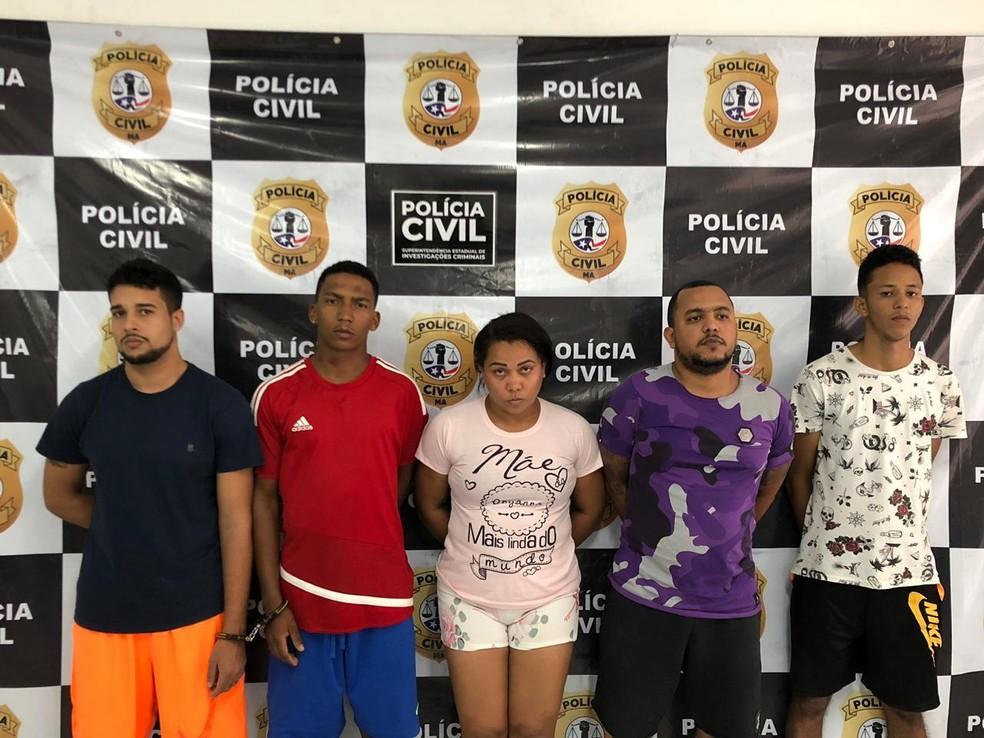Cinco pessoas foram presas no Maranhão durante operação da Polícia Civil. — Foto: Divulgação/Polícia Civil