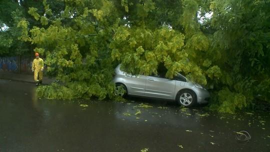 Chuva causa estragos na Região Central do RS