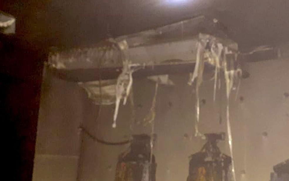 Loja de shopping na Bahia é atingida por incêndio. — Foto: Corpo de Bombeiros / Divulgação