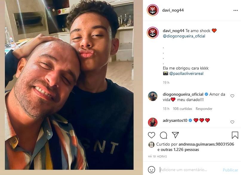 O post de Davi Nogueira, filho de Diogo Nogueira (Foto: Reprodução Instagram)