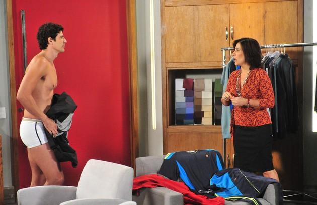 O último trabalho de Glória na TV foi em 'Guerra dos sexos', como Roberta (Foto: João Miguel Júnior/TV Globo)