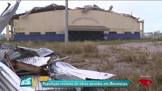 Moradores listam obras públicas paradas em bairro de Marataízes, ES