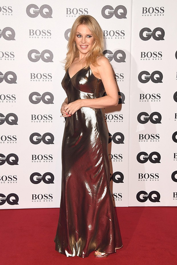 Kylie Minogue no tapete vermelho do evento GQ Men of The Year Awards 2018 (Foto: Getty Images)