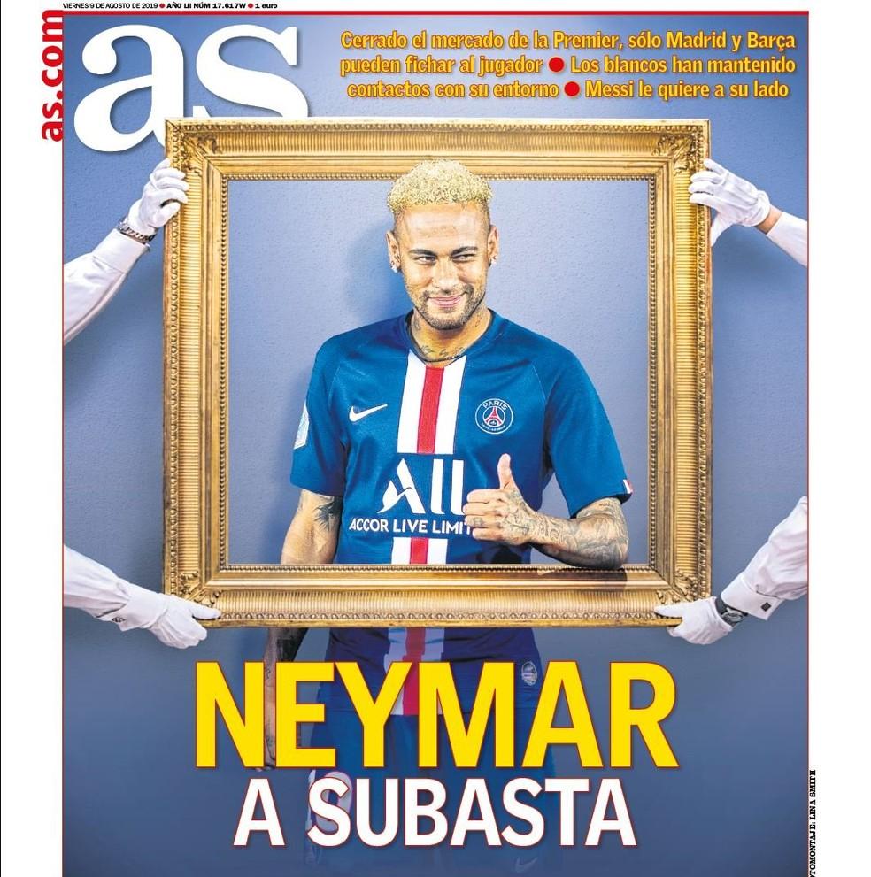 """Capa do """"As"""" fala sobre Neymar, Barcelona e Real Madrid — Foto: Divulgação"""