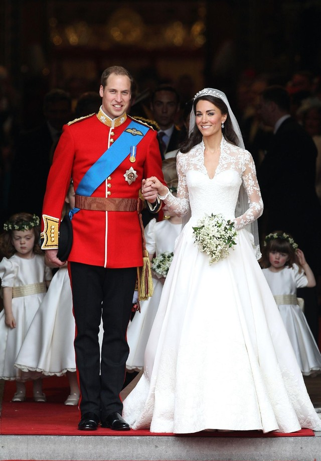 Fotos de vestidos de noiva: Kate Middleton (Foto: Getty Images)