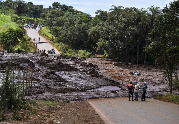 Barragem da Vale rompida em Brumadinho, Minas Gerais (Foto: Getty Images)