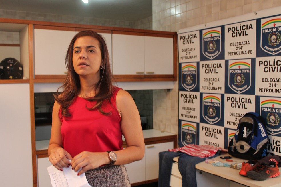 Delegada Polyanna Neri assume as investigações do caso Beatriz  (Foto: Taisa Alencar / G1)