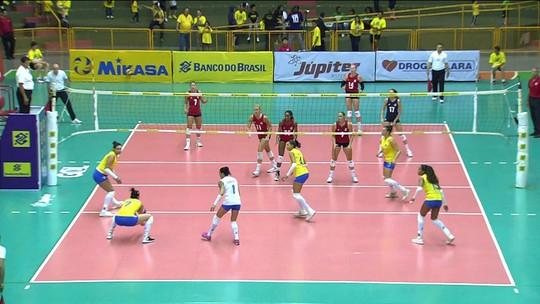 Melhores momentos: Brasil 0 x 3 Estados Unidos em amistoso de vôlei feminino