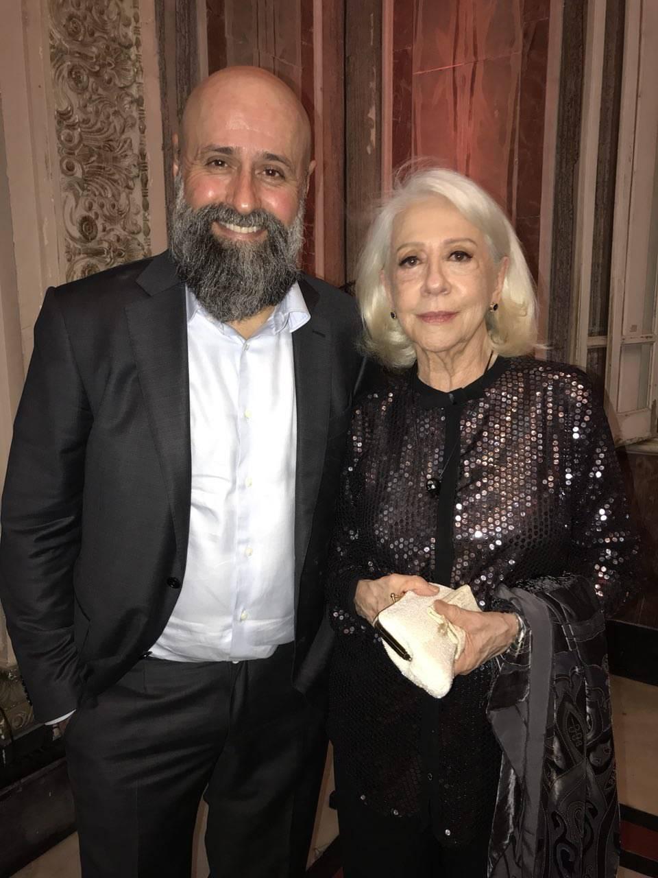 Mauro Mendonça Filho e Fernanda Montenegro