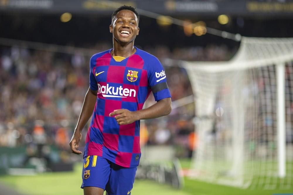 Ansu Fati marcou dois gols em quatro jogos pelo Barcelona — Foto: Getty Images