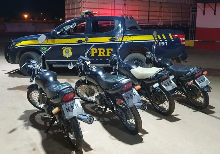 PRF apreende quatro motos com a mesma placa em Roraima: 'quadrigêmeas'
