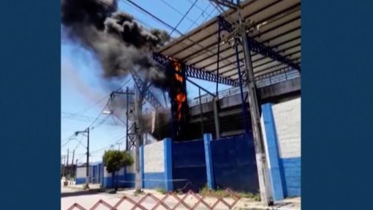 Um dia após parte da cobertura do Moacyrzão cair, estádio sofre princípio de incêndio durante obra