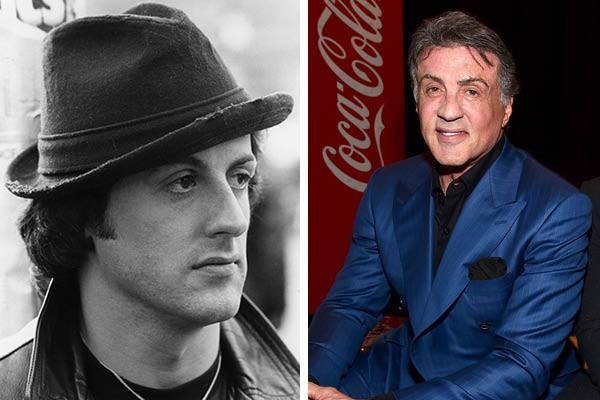 Sylvester Stallone em 1980 e agora (Foto: Getty Images)