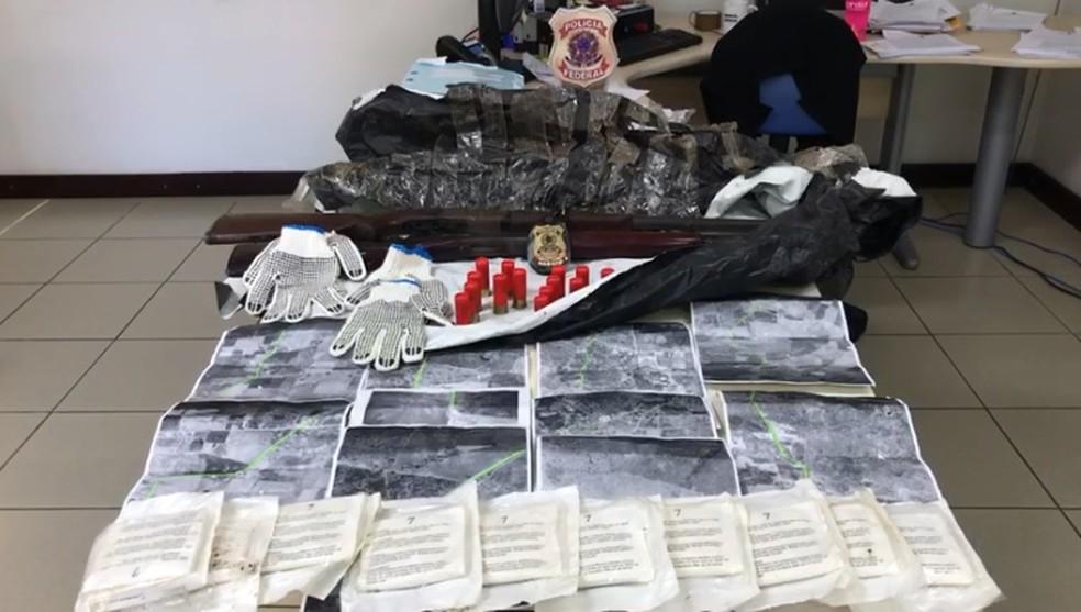 Material apreendido pela PF em Batalha, Alagoas — Foto: Reprodução/PF