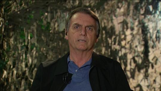 Presidente eleito, Jair Bolsonaro é entrevistado no Jornal Nacional