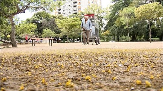 Tradicional vendedor de churros de Porto Alegre tem carrinho roubado