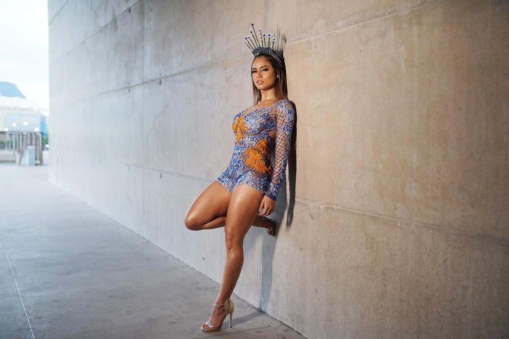 A cantora Lexa posa para ensaio de carnaval exclusivo do G1 — Foto: Marcos Serra Lima/G1