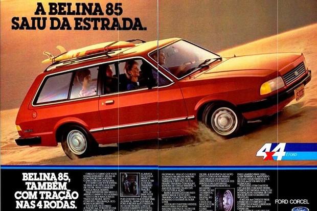 Belina 4X4 já vinha com o último facelift do Corcel (Foto: Divulgação)