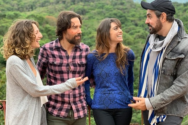 Alli Willow, Bernardo Barreto, Juliana Schalch e Jorge Farjalla (Foto: Arquivo pessoal)