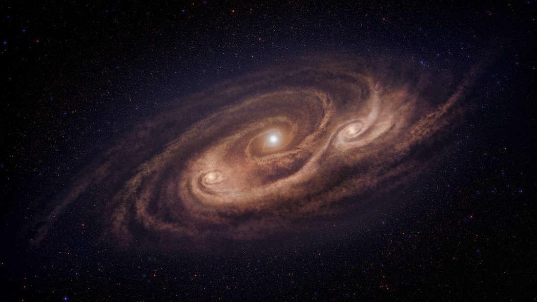 Galáxia COSMOS-AzTEC-1 forma estrelas 10 vezes mais rápido que as galáxias comuns (Foto: National Astronomical Observatory of Japan)