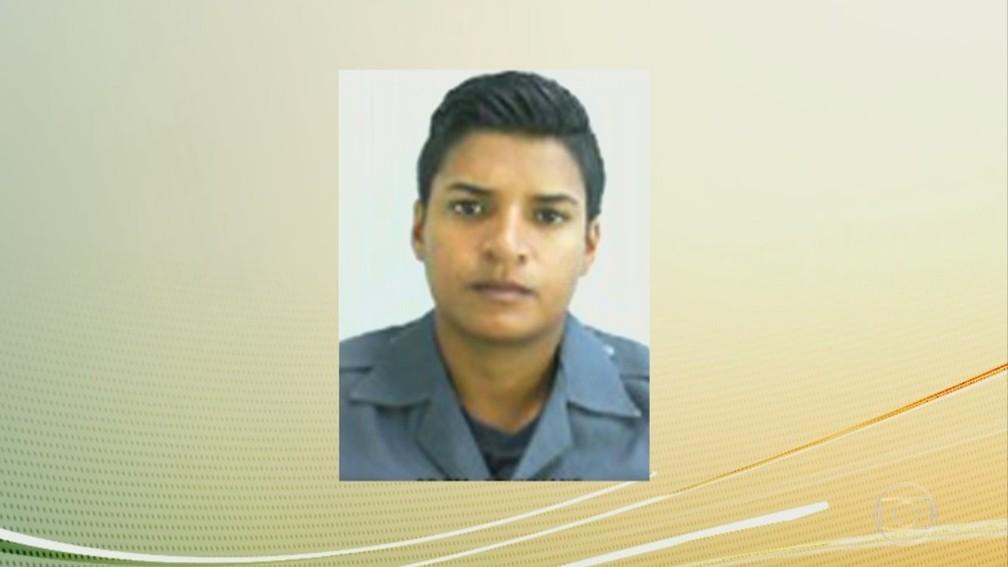 PM Juliane Santos Duarte, de 27 anos, desapareceu na favela de Paraisópolis (Foto: Reprodução/TV Globo)