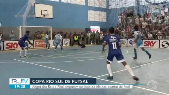 Angra e Piraí empatam jogo de ida das quartas, em duelo da melhor defesa contra o melhor ataque