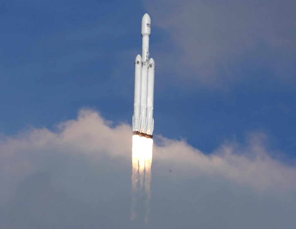 Falcon Heavy leva Tesla Roadster ao espaço (Foto: Joe Skipper/Reuters)