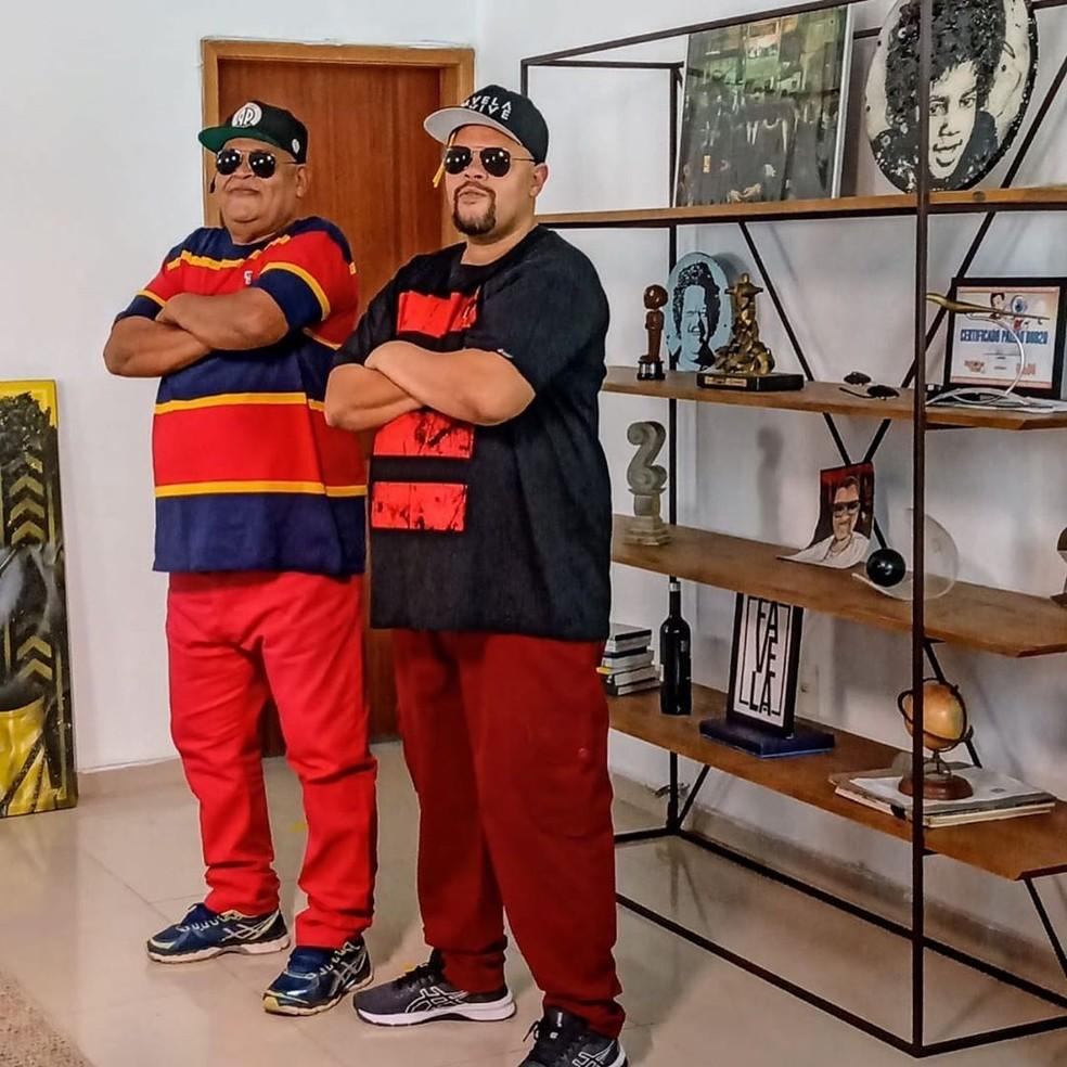 Babu Santana faz homenagem ao pai nas redes sociais — Foto: Reprodução/Instagram