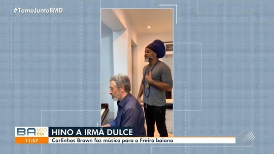 Carlinhos Brown canta música em homenagem à canonização de Irmã Dulce