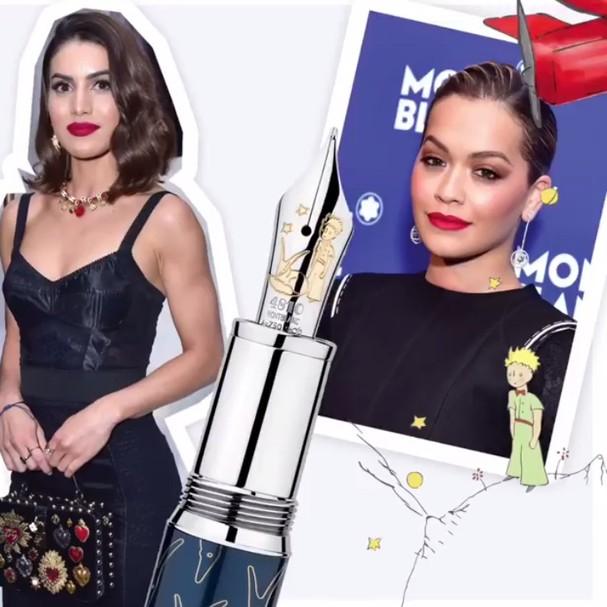 Camila Coelho e Rita Ora foram algumas das celebs que prestigiaram o lançamento da nova coleção da Montblanc em Nova York (Foto: Divulgação)