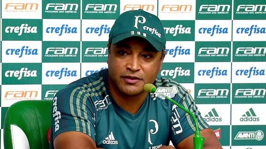 Roger confirma Palmeiras com nova zaga, mas ainda pensará sobre Lucas Lima