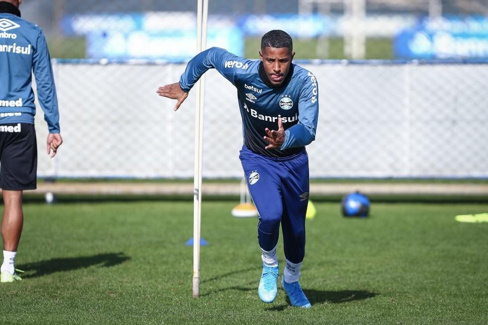 Guilherme Guedes  tem duas partidas na temporada — Foto: Lucas Uebel/Grêmio GFPA