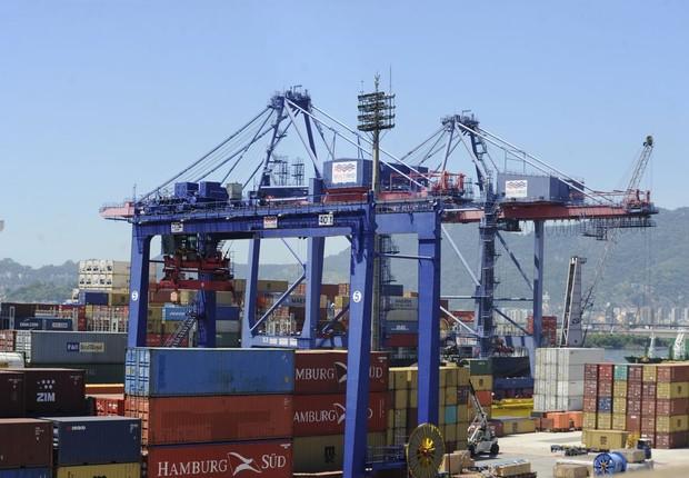 exportação - importação - porto (Foto: Agência Brasil)