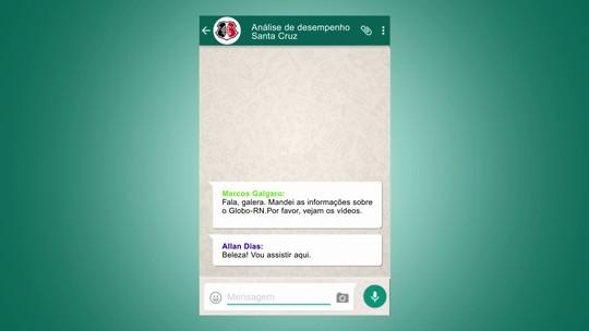 Santa Cruz inova e grupo recebe por WhatsApp conteúdo para estudo tático