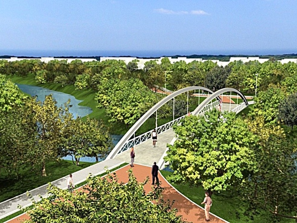 Perspectiva do Parque Macambira-Anicuns — Foto: Divulgação/Prefeitura de Goiânia