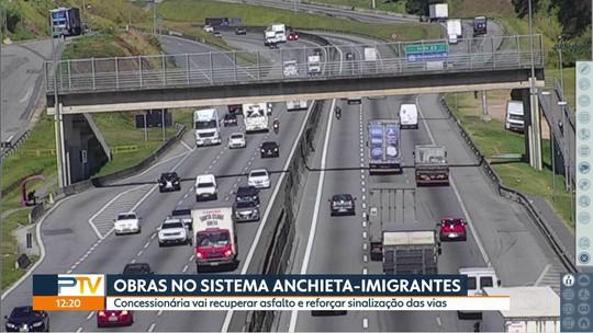 Sistema Anchieta-Imigrantes passa por semana de obras