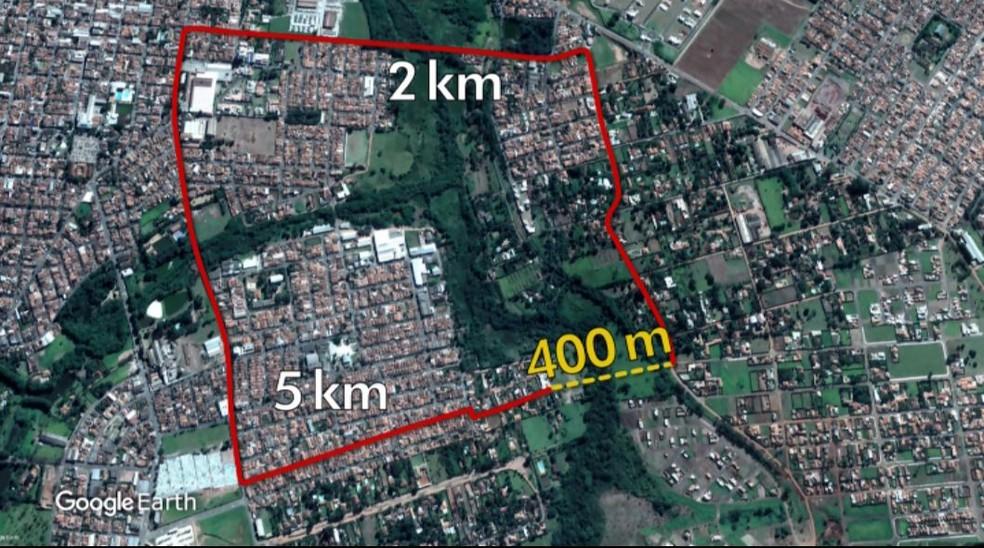 Em Porto Ferreira, distância pelo atalho é 12 vezes mais curta do que pelo caminho tradicional (Foto: Arte EPTV)