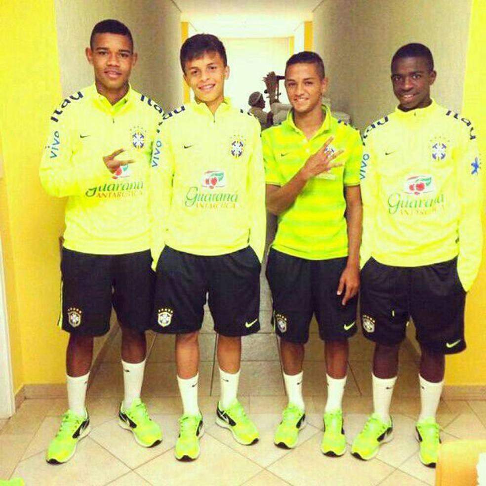 Nomes como Vinicius e Patrick na seleção sub-15 em 2014 (Foto: Globoesporte.com)