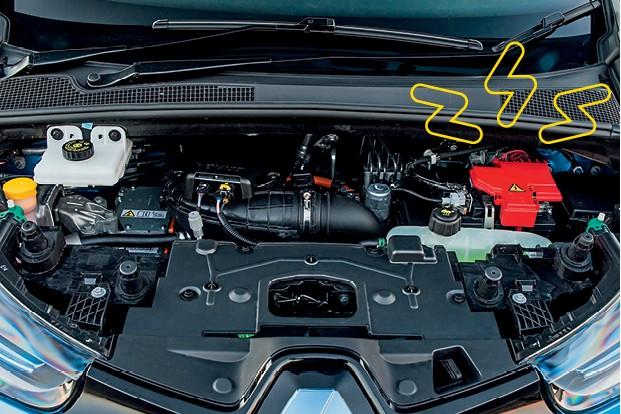 Autoesporte Responde - A bateria de 12V dos  elétricos normalmente  fica no cofre do motor (Foto: Divulgação)
