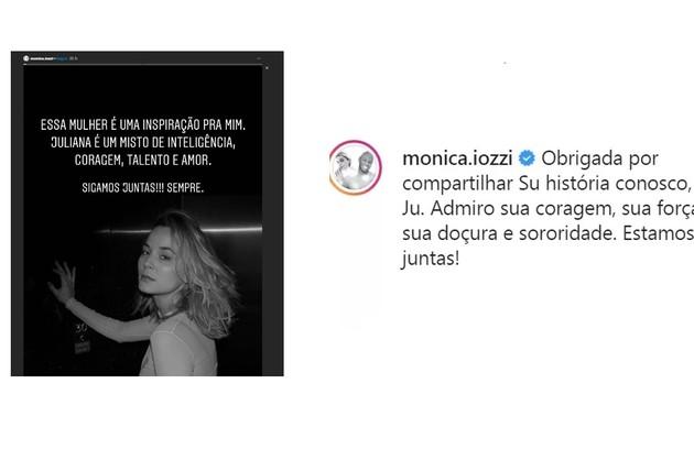 Moniza Iozzi homenageou a coragem da amiga (Foto: Reprodução)