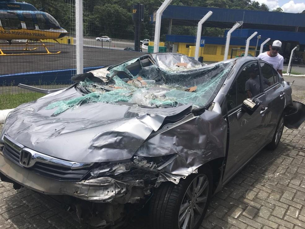 Acidente envolveu 15 veículos; oito pessoas ficaram feridas — Foto: Divulgação/PRF