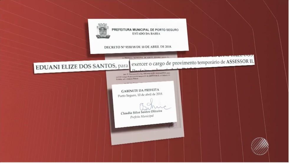 Assessora que responde por tráfico foi nomeada no dia 10 de abril (Foto: Reprodução/TV Bahia)