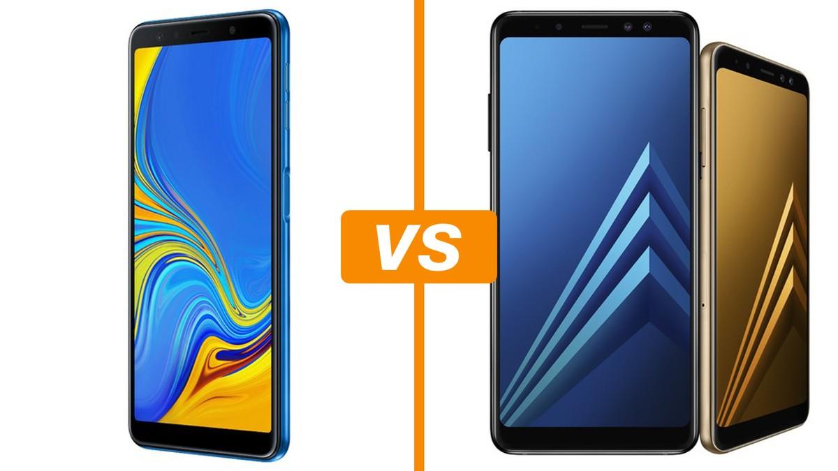 bc1368bde2 Galaxy A7 (2018) x Galaxy A8 Plus  saiba semelhanças e diferenças ...