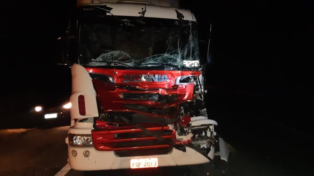 Trânsito ficou lento após acidente em Planalto — Foto: Polícia Rodoviária Federal