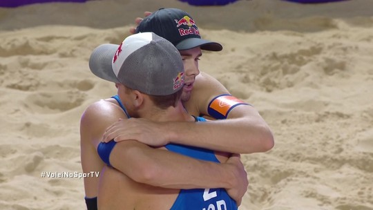 Pontos finais de Mol/Sorum 2 x 0 Gibb/Crabb na disputa do 3º lugar do Circuito Mundial de Vôlei de Praia